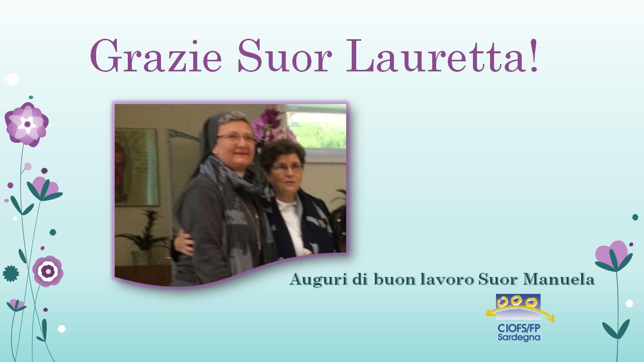 Grazie Suor Lauretta!