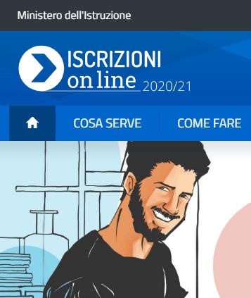 iscrizioni on line banner